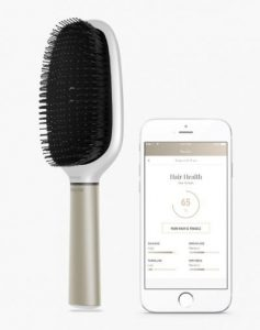 A smart hair brush to track and improve hair health over time.
