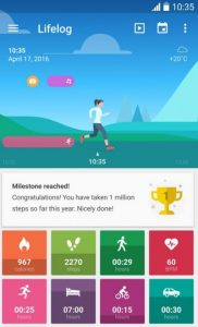 Lifelog is a health and fitness available on Google Play store (Lifelog/Google Play)