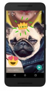 WhatsApp allows to customize and enhance photos and videos.