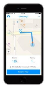 It is easy to check for bikes near you via Bluegogo app