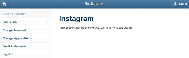 how to delete your instagram account on iphone
